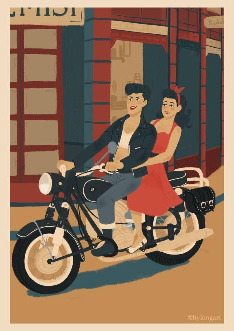 50s girls illustrations - illustration - hylengart | ello