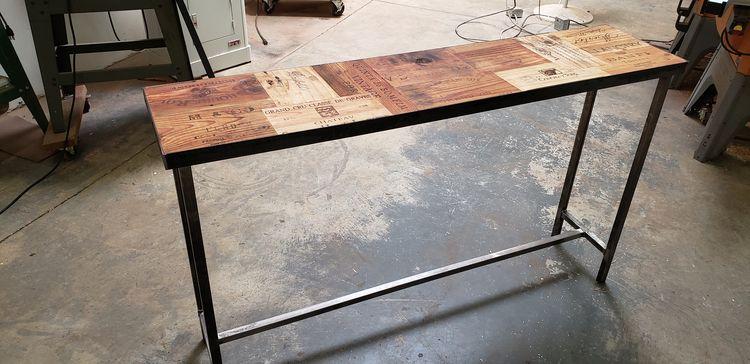 scenes: sofa / entry table salv - winecountrycraftsman | ello