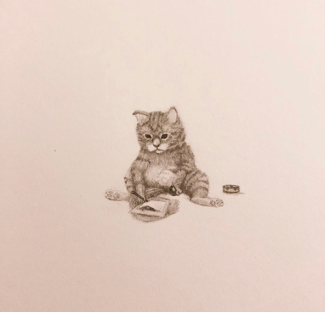 Toke draw - sketch, cat, drawing - mindsketchin | ello