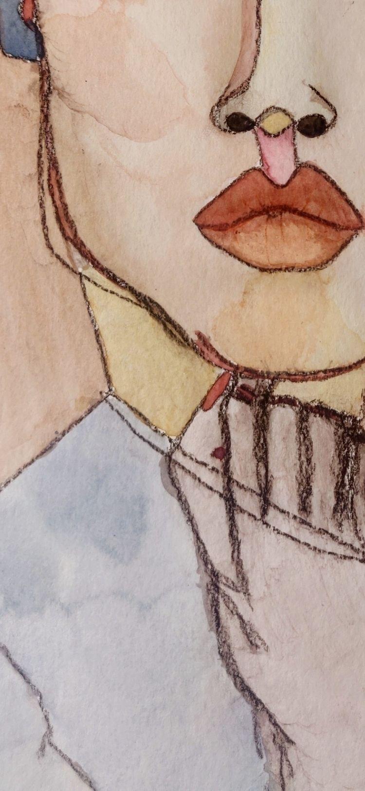 Part painting Mixed media paper - ceeceepodahl | ello