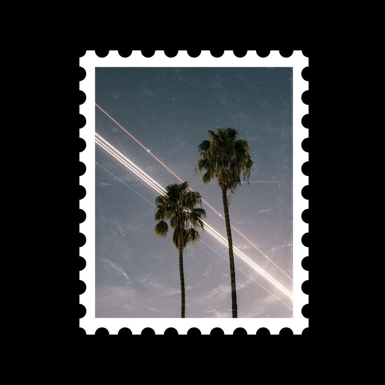Postcard stamp 6 [ palms  - sebastiien   ello