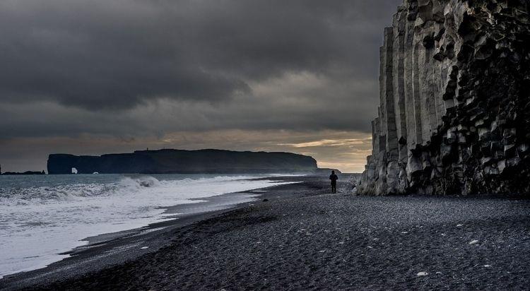 Moody black sand beaches Icelan - benjamineil | ello