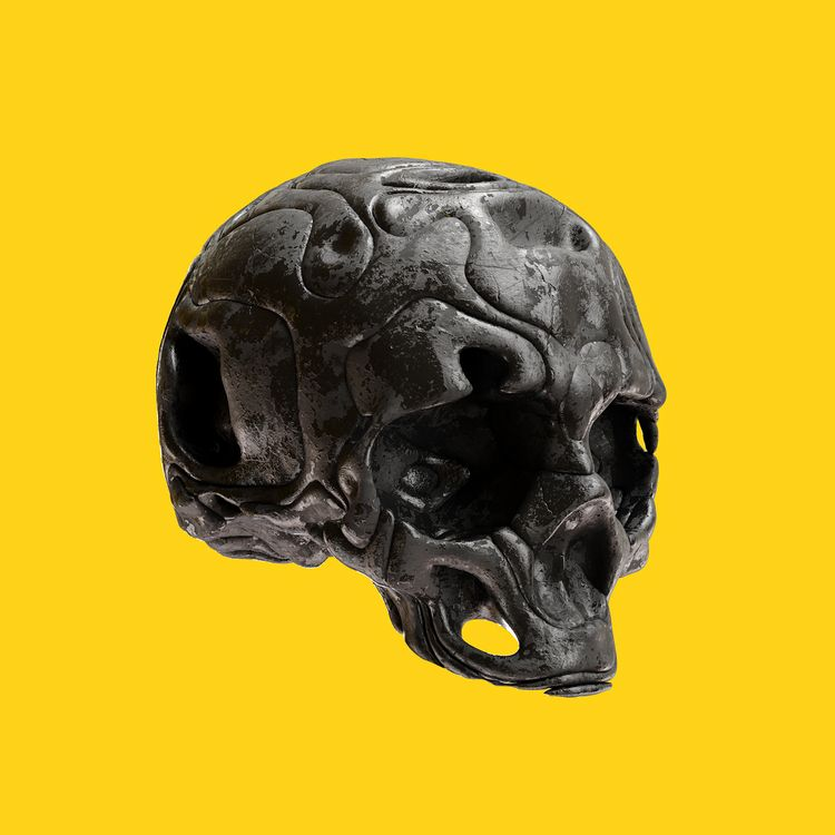 𝒚𝒆𝒍𝒍𝒐𝒘 - skull, 3d, c4d, cinema4d - conquestofninjacats | ello