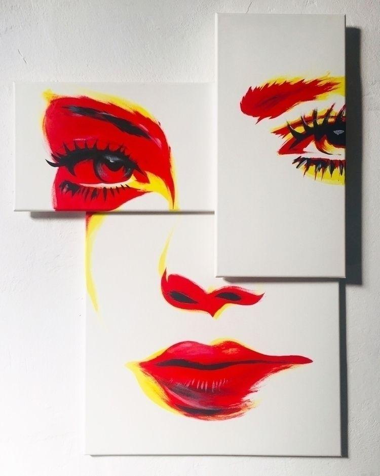 /sunshine acrylic layers canvas - dutygorn   ello