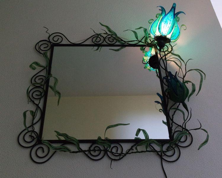 Mirror light flower BLUE | vine - elfenschein | ello