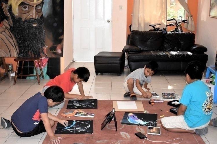 Drawing chalk classroom - children - wikibuda   ello