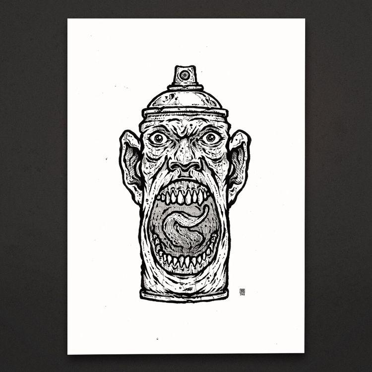 random illustration | ink paper - esze_ate | ello