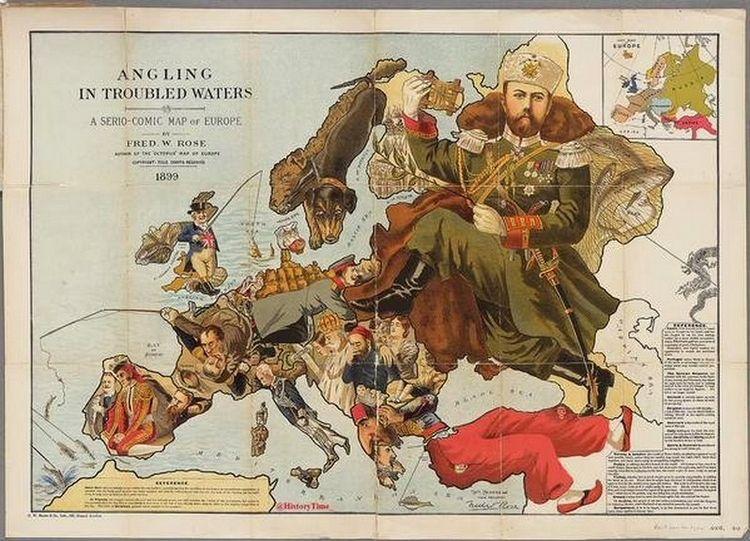 Serio-Comic map Europe, 1899 - arthurboehm | ello