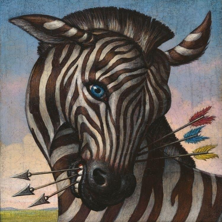 Pegasus | acrylic oil wood pane - marcburckhardt | ello