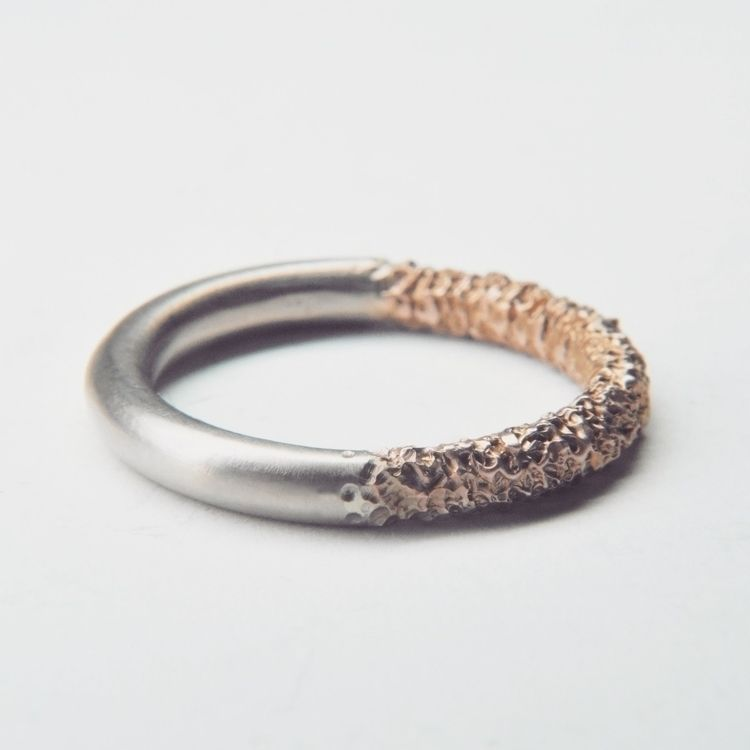 50/50 Ring / 18ct white gold, r - welfe | ello