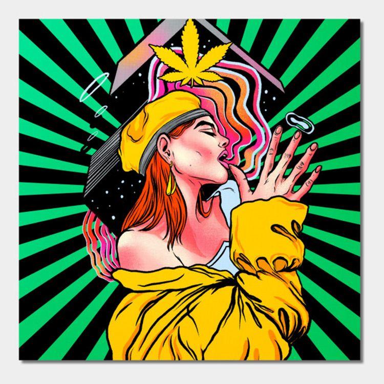 Cannabis Wall Art - cannabis, marijuana - thecommas | ello
