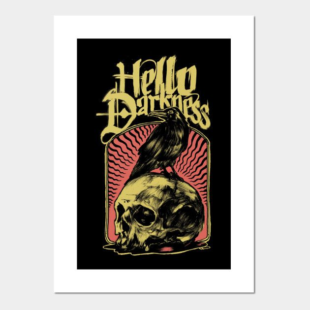 Sound Silence Dark Art Poster - graphic - thecommas | ello