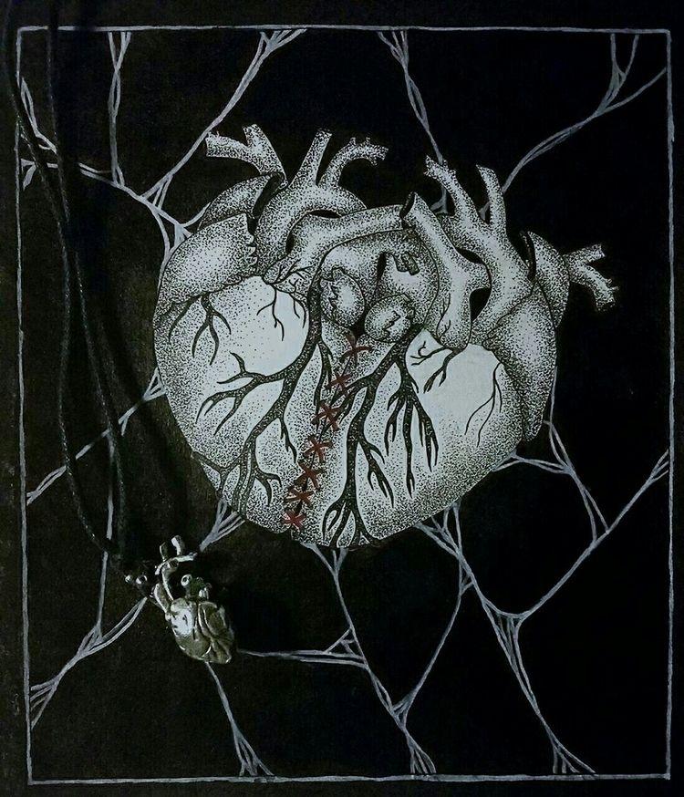 illustration, ink, inkdrawing - lunasinapis | ello