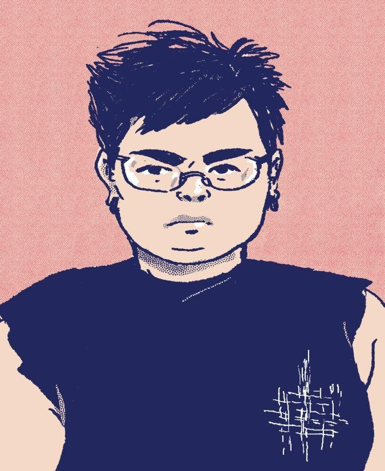 selfportrait, illustration, queer - makeshiftlove   ello