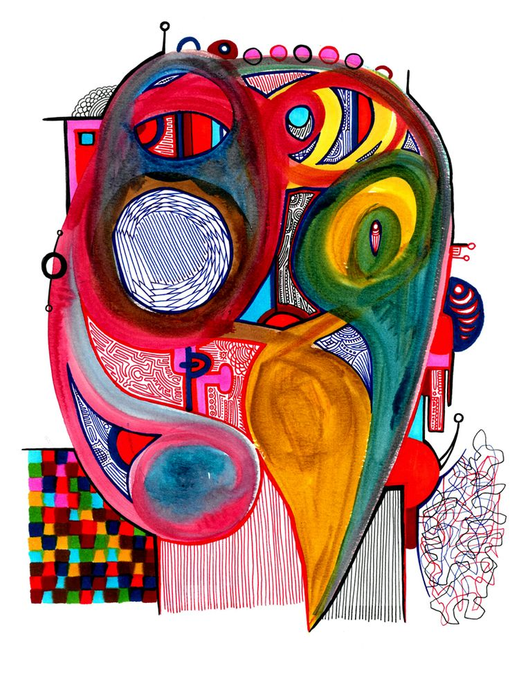 Hidden Faces Watercolour Ink pa - robert_bentley | ello