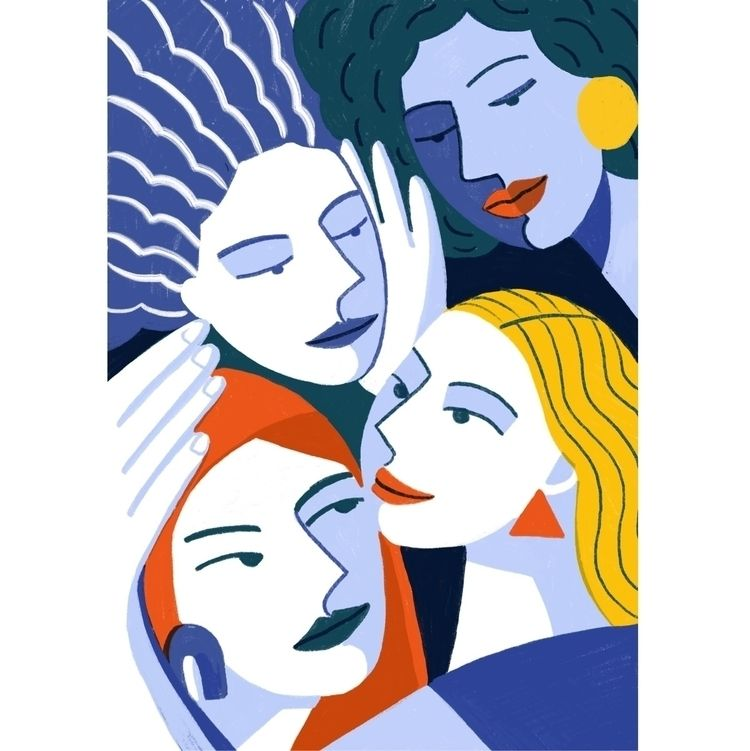 Soul sisters - womenillustration - claireprouvost   ello