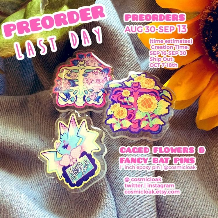 Pin Preorder Ends today 11:59PS - cosmicloak | ello