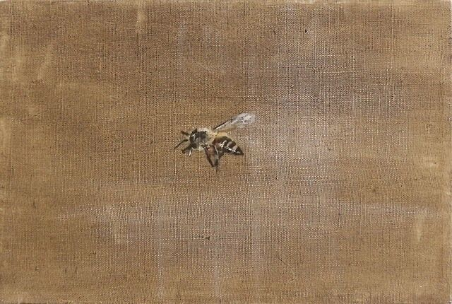 """Shining Bee"" 20x30cm, oil line - rutavm | ello"
