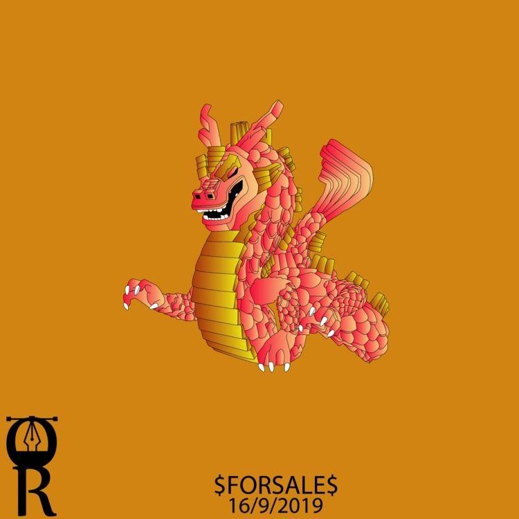 Dragon illustration sale - omarraaftdesginer   ello