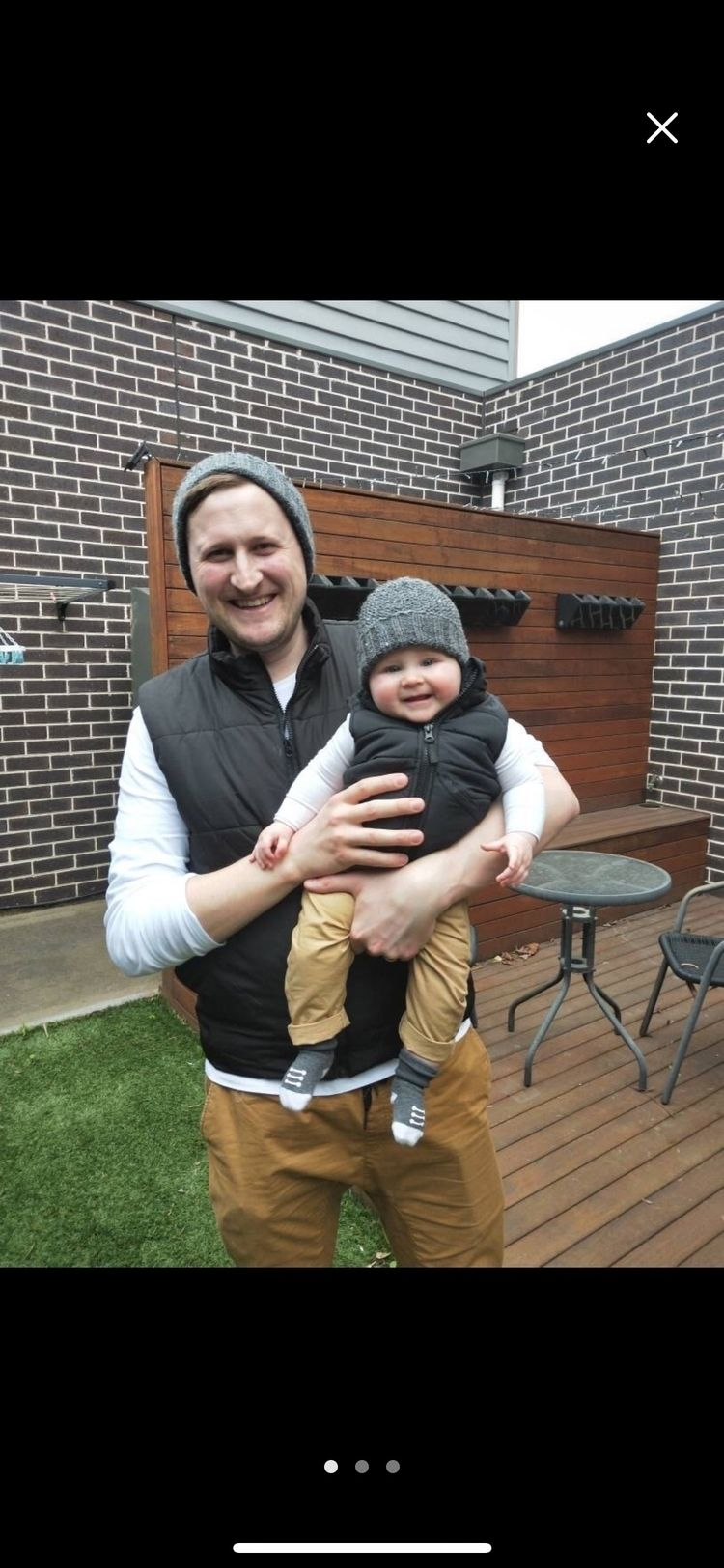 Daddy baby matching set grey wo - siennaknits   ello