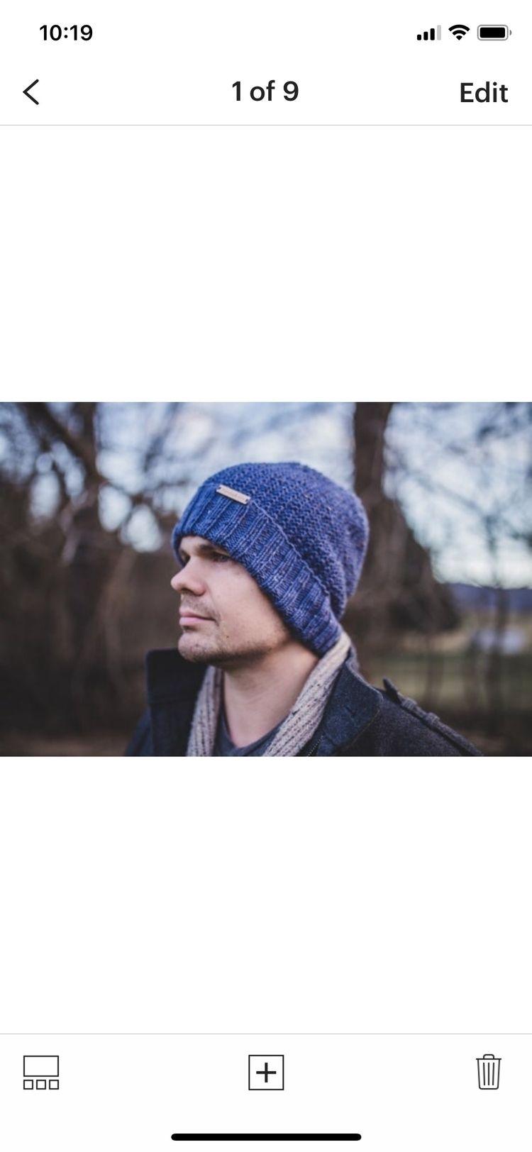 Denim wool knit beanie - siennaknits   ello