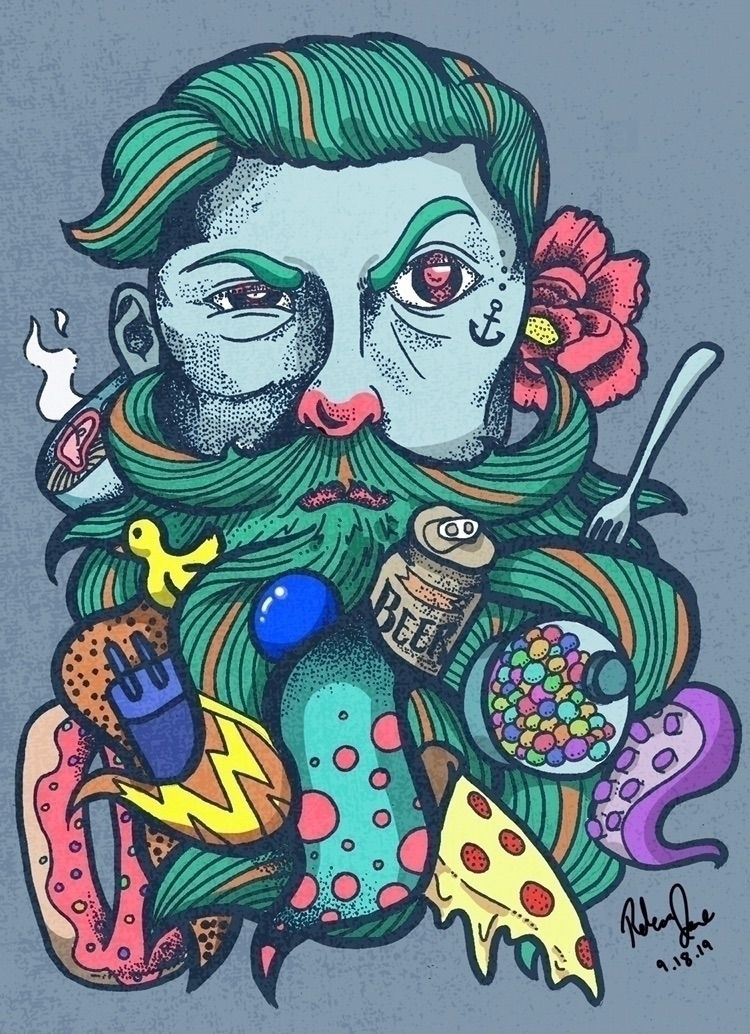 beautiful random. hipster man b - rebecca_jane   ello