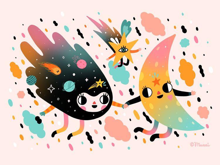 Friendships lasts - illustration - muxxi | ello