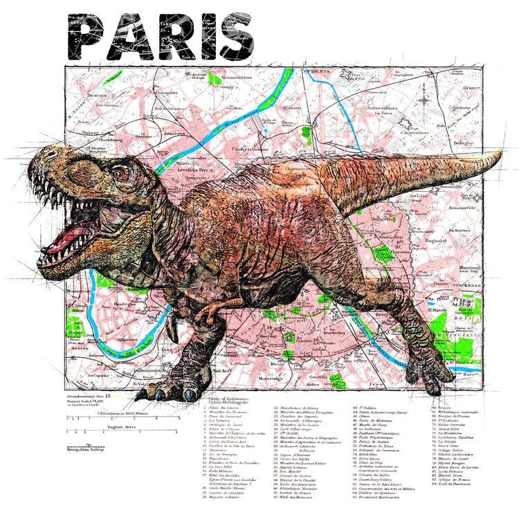 map serie Raptor Paris - illustration - ferreiraricardo | ello