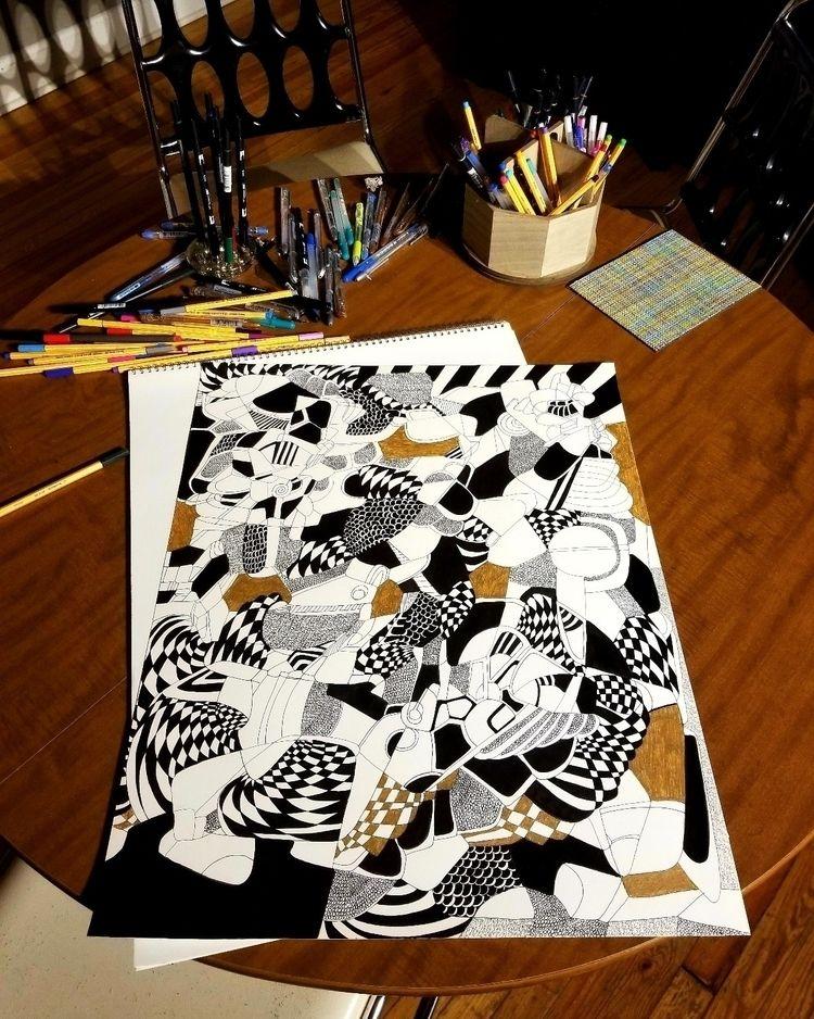 photo drawing night: working ti - dannyartist   ello