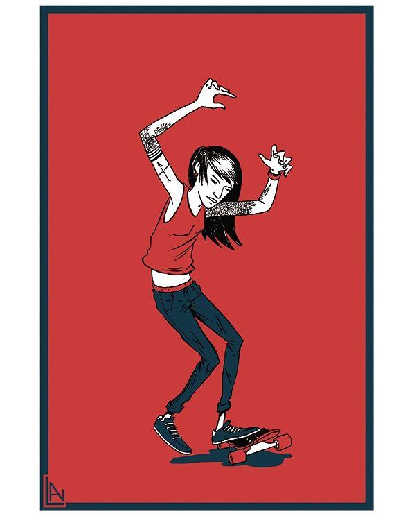 Number - 1, illustration, skateboard - lnam | ello