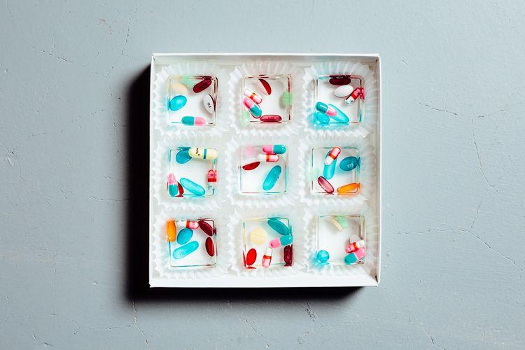 resin candy pill cubes, studio  - skanktalk   ello
