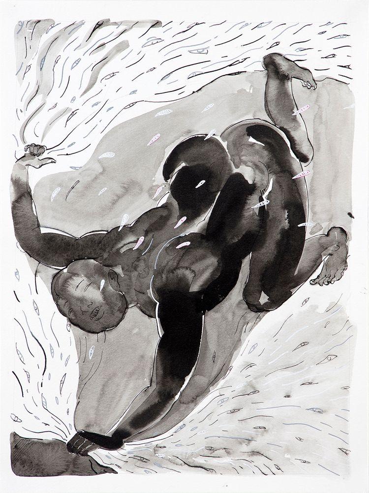 Seeker (2018) Ink paper // 16 × - yqin_art | ello