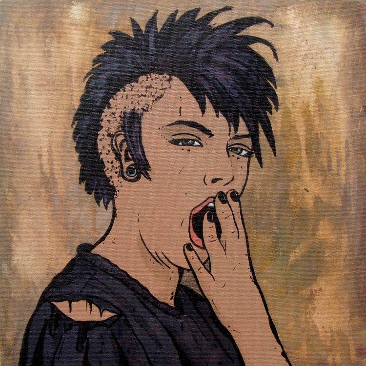 Bored Youth Acrylic Canvas - diogorustoff | ello