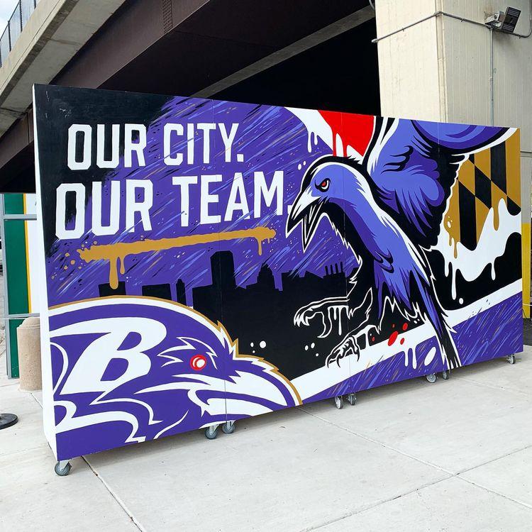 Mural painted live Baltimore Ra - mattcorrado | ello