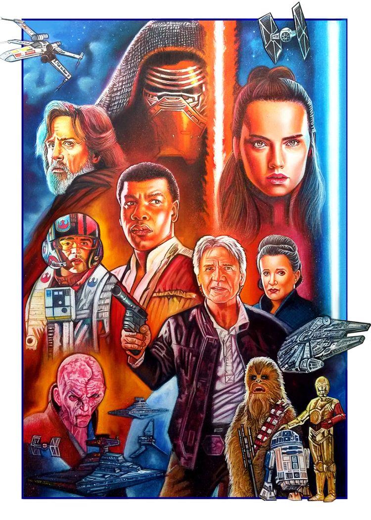 Star Wars Movies [Acrylic, Colo - christianromani   ello