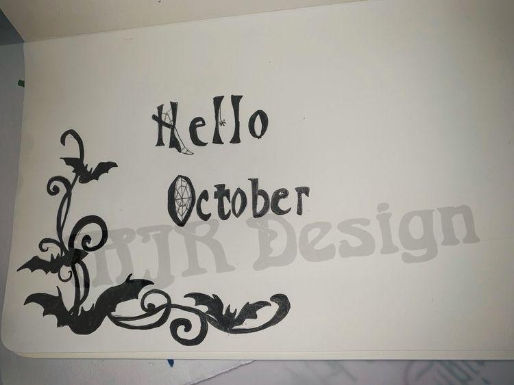 Day 1 challenge - Halloween, calligraphy - melanie-jane | ello