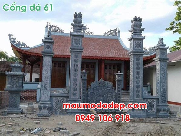 Mẫu cổng đá nhà thờ họ đẹp 61  - sanphamdaninhvan | ello