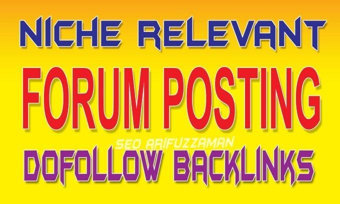 Niche relevant forum posting ba - jason21   ello