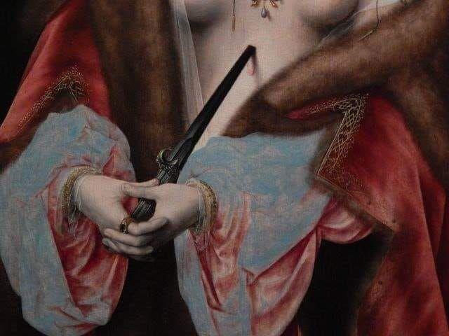 Joos van Cleve - Lucretia, ca.  - worshiptheglitch   ello
