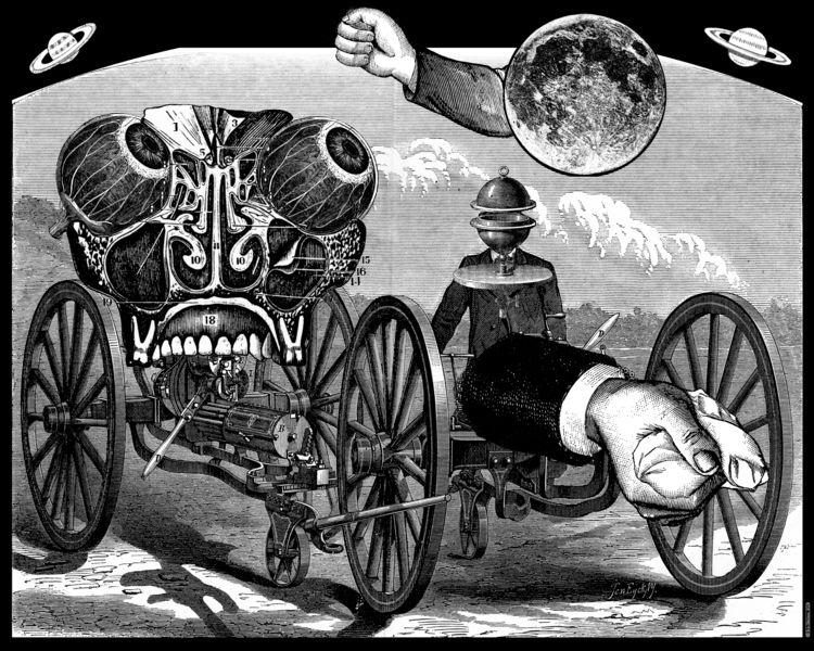 Machinery Astonishment (2019).  - retrocollage | ello