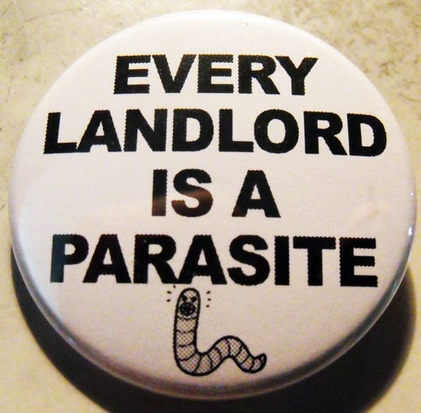 LANDLORD PARASITE pinback butto - crizzlesbuttons   ello