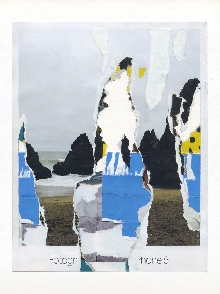 Skyline Paper collage 24 32 cm  - laurentseljan | ello