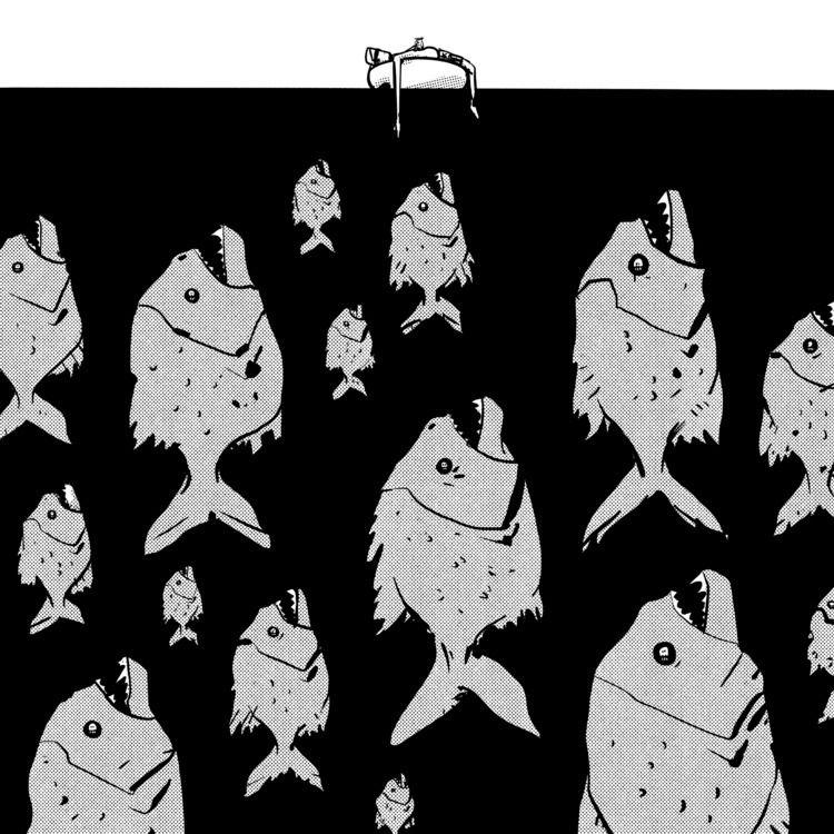 03: Bait (Piranhas Piranha - inktober2019 - maljones | ello