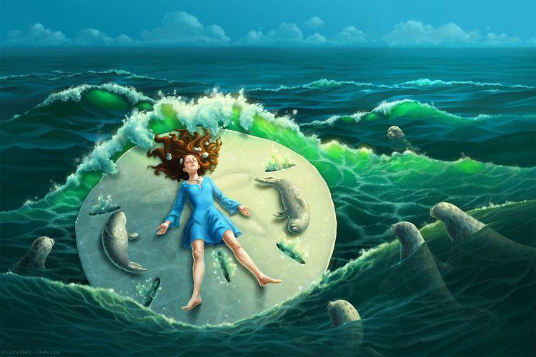 Sand Dollar waves surge roll, s - lauradiehl | ello