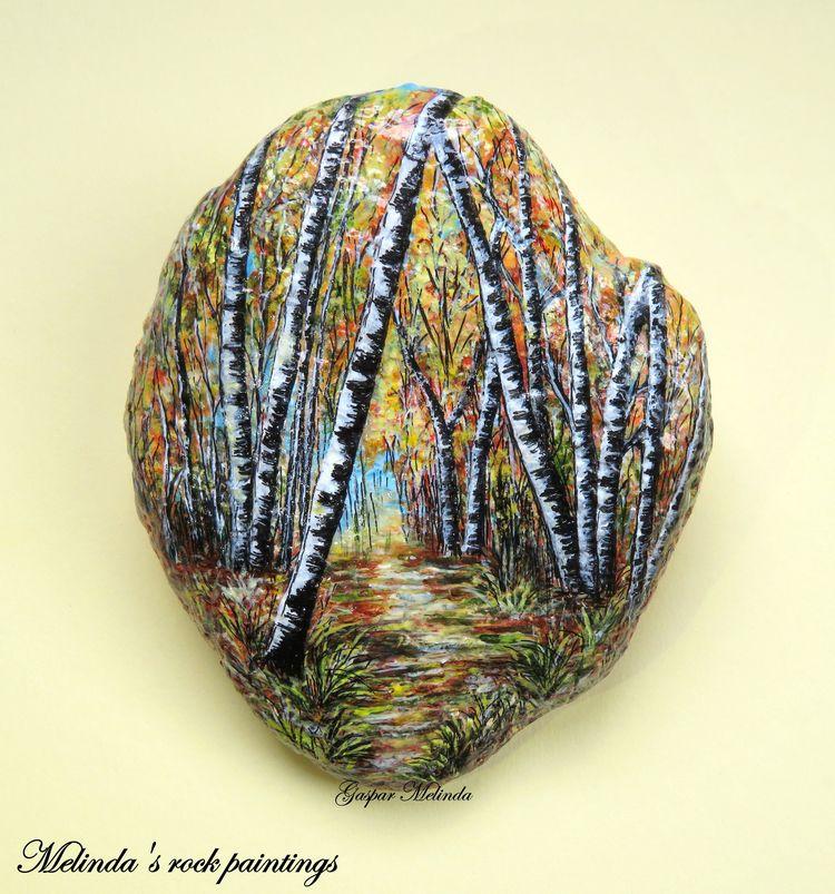 Autumn Landscape - painting, rockart - adnilem | ello