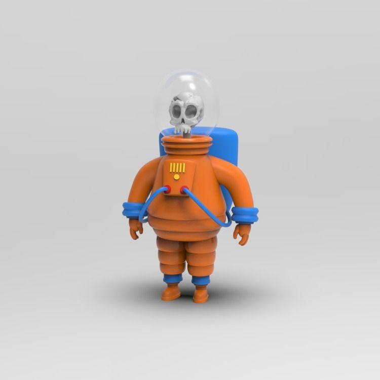 Astro-Skelly - zbrush, blender3d - mikemcleod   ello
