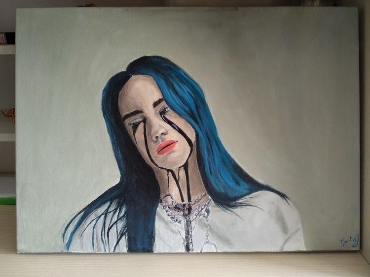 art, paint, billieeilish - immartinj | ello