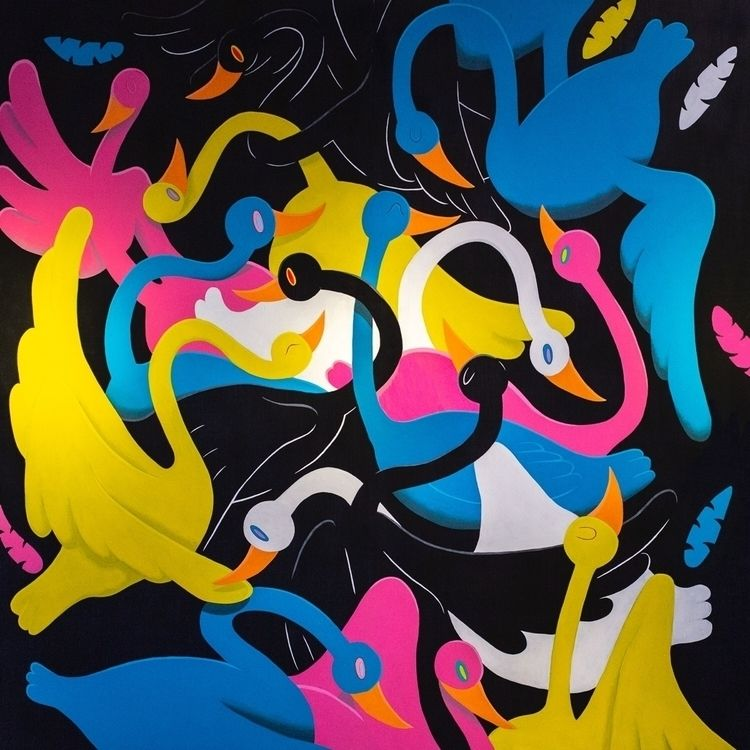 """Wedge Flight"" 8'x8 - art, artist - johnnydraco | ello"