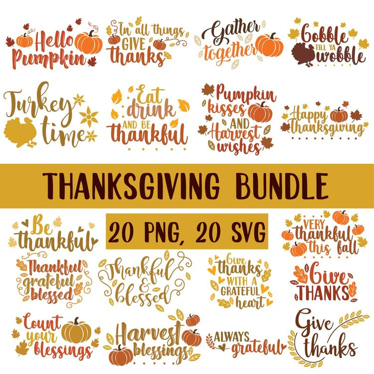 2nd THANKSGIVING BUNDLE - etsy, etsyseller - annijajansone | ello