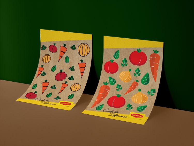 Maggie Foods Packaging Illustra - rasadesign | ello